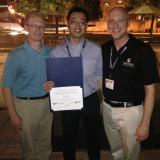 Yilong with Professors JT Taylor and Mike Garvin.